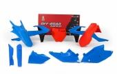 Kit plastique RACETECH bleu/orange édition limitée KTM 125 SX  2016-2018 kit plastiques racetech