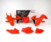 Kit plastique RACETECH orange fluo/noir KTM 125 SX 2016-2018 kit plastiques racetech
