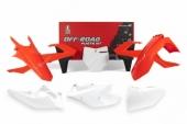 Kit plastique RACETECH couleur origine (2018) rouge/blanc KTM 125 SX 2016-2018 kit plastiques racetech