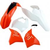 Kit plastique UFO couleur origine (2011) KTM 125 EXC 2009-2011 kit plastiques ufo