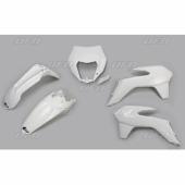 Kit plastique UFO BLANC KTM 125 EX-C 2014-2016 kit plastiques ufo