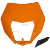 PLAQUE PHARE ENDURO UFO ORANGE KTM 125 EX-C 2014-2016 plastiques ufo