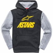 SWEAT ALPINESTARS FAN CLUB FLEECE NOIR / JAUNE sweatshirt