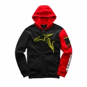 SWEAT ALPINESTARS GP PLUS ZIP NOIR / ROUGE 2019 sweatshirt