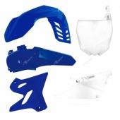 Kit plastique RACETECH couleur origine bleu/blanc YAMAHA 125 YZ 2015-2018  kit plastiques racetech