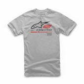 T-SHIRT ALPINESTARS STRAT SILVER 2019 tee shirt