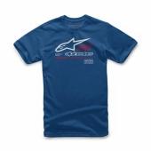 T-SHIRT ALPINESTARS STRAT BLEU 2019 tee shirt