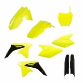 KIT PLASTIQUE FULL ACERBIS JAUNE FLUO SUZUKI 450 RM-Z 2008-2017 kit plastiques acerbis