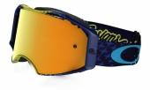 LUNETTE OAKLEY Airbrake Troy Lee Designs Starbust JAUNE/BLEU lunettes