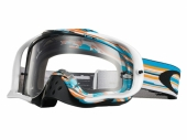 LUNETTE OAKLEY Crowbar Pinned Race BLEU/BLANCH écran Ice Iridium lunettes