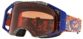 LUNETTE CROSS OAKLEYAirbrake Dazzle Dyno Orange/Blue écran Prizm MX Bronze lunettes