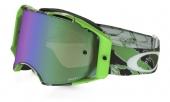 LUNETTE CROSS  OAKLEY Airbrake Eli Tomac Signature Series Neon VERT  Camo écran Prizm MX Jade Iridium lunettes
