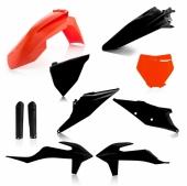 KIT PLASTIQUE FULL ACERBIS BLANC NOIR/ORANGE KTM SX/SX-F 2019 kit plastiques acerbis