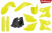 Kit plastique POLISPORT Restyle jaune fluo YAMAHA 125 YZ 2002-2004 plastique polisport