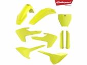 Kit plastique POLISPORT jaune fluo HUSQVARNA 250 FC 2016-2018 plastique polisport