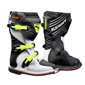 BOTTES KENNY TRACK JUNIOR BLANCHES / NOIRES / JAUNE FLUO 2019 bottes kid