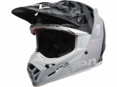 Casque BELL Moto-9 Flex Seven Zone Gloss noir/blanc/Chrome  casques