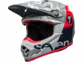 Casque BELL Moto-9 Flex Seven Zone Gloss Navy/Coral casques