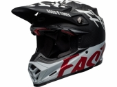 Casque BELL Moto-9 Flex Fasthouse WRWF Gloss NOIR/BLANC/ROUGE casques