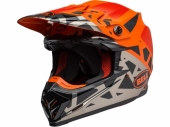 Casque BELL Moto-9 MIPS Tremor Matte/Gloss noir/Orange/Chrome  casques