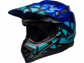 Casque BELL Moto-9 MIPS Tremor Matte/Gloss Blue/noir casques