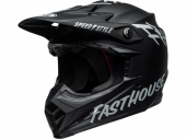 Casque BELL Moto-9 MIPS Fasthouse Gloss NOIR/BLANC casques