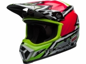 Casque BELL MX-9 MIPS Tagger Asymmetric Gloss ROSE/VERT casques