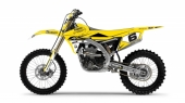 KIT DECO 2D RACING REPLICA DEPARROIS JAUNE YAMAHA 85 YZ 2002-2019 kit deco