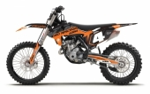 KIT DECO 2D REPLICA AUZOUX NOIR/ORANGE KTM 125/250 SX 1998-2019  kit deco