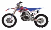 KIT DECO 2D RACING FR 25 BLANC HONDA 125 CR  1991-2008 kit deco