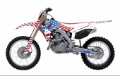 KIT DECO 2D RACING BIG USA HONDA 250 CR-F 2004-2019 kit deco
