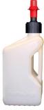 Bidon d'essence TUFF JUG 10L blanc translucide/bouchon rouge outillages