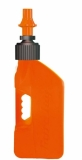 Bidon d'essence TUFF JUG 10L orange translucide/bouchon orange outillages