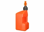 Bidon d'essence TUFF JUG 20L orange translucide/bouchon orange - bouchon remplissage rapide outillages