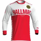 MAILLOT THOR PULSE AIR  FACTOR BLANC/NOIR/ROUGE 2019 maillots pantalons