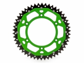 Couronne ART ACIER/ ALU VERTE ultra-light anti-boue KAWASAKI 250 KX-F 2013-2016 pignon couronne