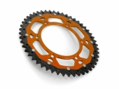 Couronne ART ACIER/ ALU ORANGE ultra-light anti-boue KTM 350 SX-F 2011-2019 pignon couronne