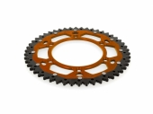 Couronne ART ACIER/ ALU ORANGE ultra-light anti-boue KTM  450 SX-F 2016-2019 pignon couronne