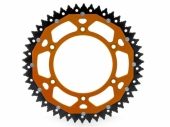 Couronne ART ACIER/ ALU ORANGE ultra-light anti-boue KTM 350 EXC-F 2012-2018 pignon couronne