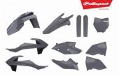 Kit plastiques POLISPORT gris nardo KTM 250 SX 2017-2018 plastique polisport