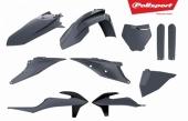 Kit plastiques POLISPORT gris nardo KTM 350 SX-F 2019 plastique polisport