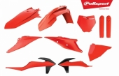 Kit plastiques POLISPORT orange fluo KTM 250 SX-F 2019 plastique polisport
