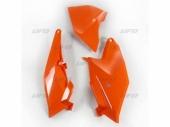 Plaques latérales + cache boîte à air UFO orange KTM 85 SX 2018-2019 plastiques ufo