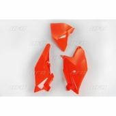 Plaques latérales + cache boîte à air UFO orange FLUO  KTM 85 SX 2018-2019 plastiques ufo