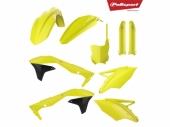 Kit plastique POLISPORT jaune fluo KAWASAKI 450 KX-F 2016-2018 plastique polisport