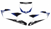 Fonds de plaque BLACKBIRD Graphic blanc YAMAHA 450 YZ-F 2010-2013 fond de plaque graphic
