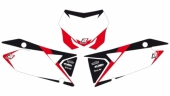 Fonds de plaque BLACKBIRD Graphic blanc SUZUKI 450 RM-Z 2018-2019 fond de plaque graphic