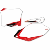 FOND DE PLAQUE FX FACTORY BLANC HONDA 250 CR-F 2014-2017 fond de plaque graphic