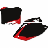 FOND DE PLAQUE FX FACTORY NOIR HONDA 450 CR-F 2013-2016 fond de plaque graphic