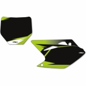 FOND DE PLAQUE FX FACTORY NOIR KAWASAKI 250 KX-F 2017-2020 fond de plaque graphic